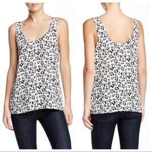 EQUIPMENT✨Kaylen Leopard Print Silk Tank sz L